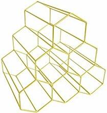 QSEVEN Weinregal, Metall, kreativ, 3 Ebenen,