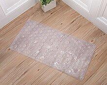QT Anti-rutsch Badvorleger,Badezimmer-matten,Kunststoff Dusche Massagematte,Mat Mit Saugnapf-pad,Fußabtreter-D 70x36cm(28x14inch)