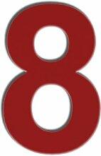 QT Moderne Hausnummer - 15 Zentimeter ROT-