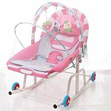 QT&YY Baby-schaukelstuhl mit Rad,Komfort Stuhl