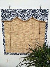 QTDJ Vintage Bamboo Roll Up Window