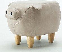 QTKK Kreative Tier Schuhe Bench,Lederbank Schuhe