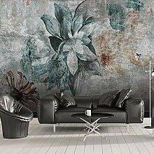 QTMD 3D Fototapete Nordic Vintage Blume