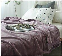 QTQHOME Luxus Fuzzy Velvet Decken,Super Weich