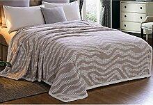 QTQHOME Luxus Super Weich Gedruckt Sofa Decke,Warm