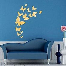 QTRYFHJI Schmetterling Kombination 3D Spiegel