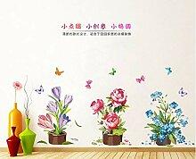 QTXINGMU Abnehmbare Wand Aufkleber Topfpflanzen