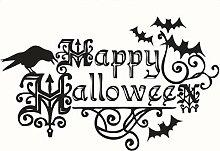 QTXINGMU Halloween Englische Wort Wandaufklebern