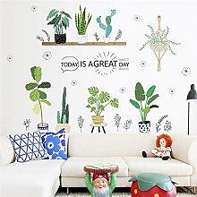 QTXINGMU Kreative Garten Grün Gras Pflanze Wand