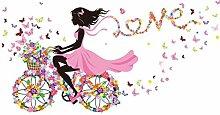 QTXINGMU Mädchen Wand Aufkleber Multi Color