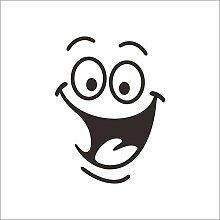 Qtydmdh Smiley Große Maus Toilette Aufkleber Diy
