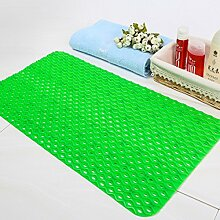 QTZS Matte Wellenmuster Bad Matte PVC Anti-Rutsch-Pad,Green-35*70cm