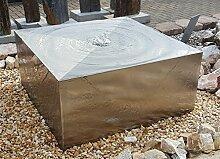 Quader Würfel 40/40/20 cm Edelstahl matt
