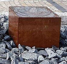 Quader Würfel 40/40/40 cm Cortenstahl Roststahl