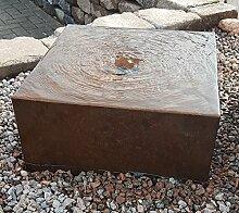 Quader Würfel 80/80/40 cm Cortenstahl Roststahl