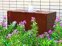 Quader Würfel Rechteck 60/25/30 cm Cortenstahl