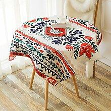 Quadrat baumwolle und leinen tischtuch nationaler stil tisch tuch tisch cloth tv schrank staub-proof handtuch-A 140x200cm(55x79inch)