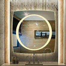 Quadrat Beleuchtet LED Bad Versilbert