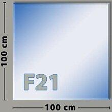 Quadrat F21 Funkenschutzplatte - Glasplatte aus