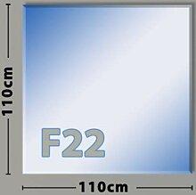 Quadrat F22 Funkenschutzplatte - Glasplatte aus