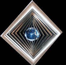 Quadrat hochkant mit Glaskugel Ø-35mm (hellblau)