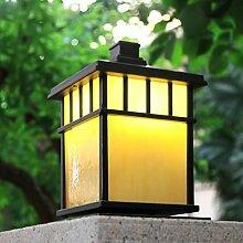 Quadrat Stigma Lampe Wandleuchte Garten Lampe Tür Pfosten-Lampe Chinesische im Freien wasserdichte Tür-Lampe Retro- Landschaftslampe