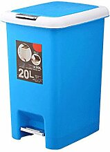 Quadratfuß-Haus Küche Bad Mülleimer Deckel Kunststoff Tuba,Blue-10L
