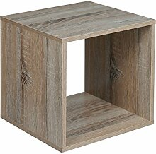Quadratisch Holz Bücherregal Bücherregal Eiche
