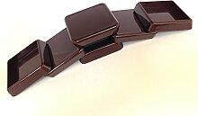 Quadratisch Polystyrol Möbelrolle schlagfest Möbelfuß Tassen Farben erhältlich braun und Clear Größen Made in Germany., braun