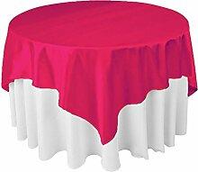 Quadratisch Satin Tischdecke Tisch Cover für