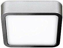 Quadratische Deckenleuchte LED Orto Silber Breite