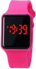 Quadratische elektronische Armbanduhr,