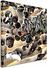 Quadratische Fotoleinwand 90x90cm Naturfotografie