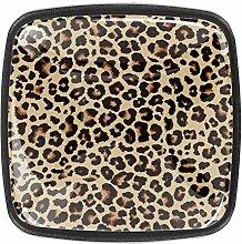 Quadratische Knäufe mit Leopardenmuster, für