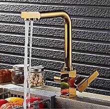 Quadratische Kugel/Golden/Chrom/Beige Wasserfilter