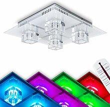 Quadratische LED Deckenleuchte Glas – LED
