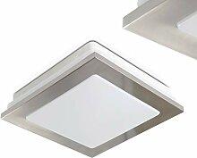 Quadratische LED Deckenleuchte Metall in Chrom -