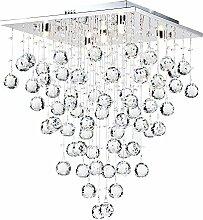 Quadratische moderne Kristall-Deckenleuchte,