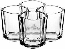 Quadratische Schnapsglas Set (4er Set) –