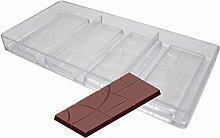 Quadratische Schokoladenform aus Polykarbonat für