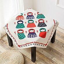 Quadratische Tischdecke,Couchtischdecke Tuch,Restaurant Tischdecke,Tv-schrank Nachttisch Deckentuch-C 140x180cm(55x71inch)