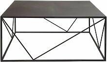 Quadratischer Couchtisch aus Metall, schwarz Edwin