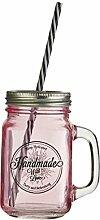 Quadratischer EinmachGlas-Becher, Glas 450ml,