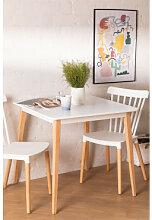 Quadratischer Esstisch aus Holz (80x80 cm) Nusip