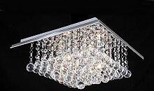 Quadratischer Kristallleuchter mit 4 Leuchten,