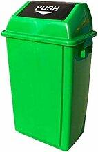 Quadratischer Mülleimer 40L 60L mehrfarbiger