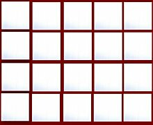 QUADRATISCHER SQUARE Acryl Spiegel DEKORATION Deco - Verzierungens für Karte DEKORATION Deco - Packung von 5...