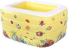 Quadratisches Gelbes Schwimmbad Kleine Kinder