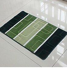 Quadratisches Muster Hand Waschbar Badezimmer Wasserabsorption Anti-Rutsch-Teppich Eingang Schlafzimmer Hall Teppich ( Farbe : B , größe : 60*90cm )