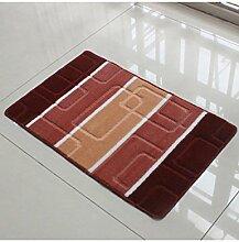 Quadratisches Muster Hand Waschbar Badezimmer Wasserabsorption Anti-Rutsch-Teppich Eingang Schlafzimmer Hall Teppich ( Farbe : D , größe : 60*90cm )